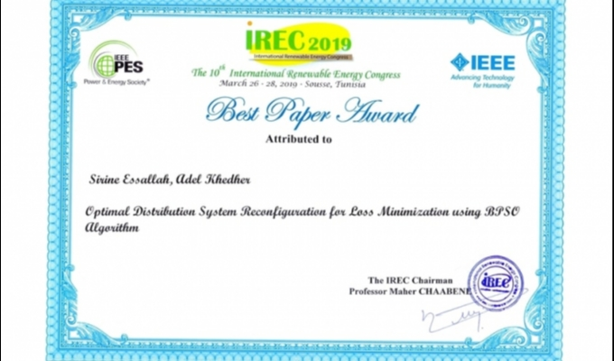 Best full paper award